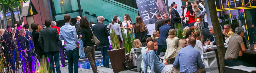 business meets desire jaguar xe afterwork in der stiglerie socialevent. Black Bedroom Furniture Sets. Home Design Ideas